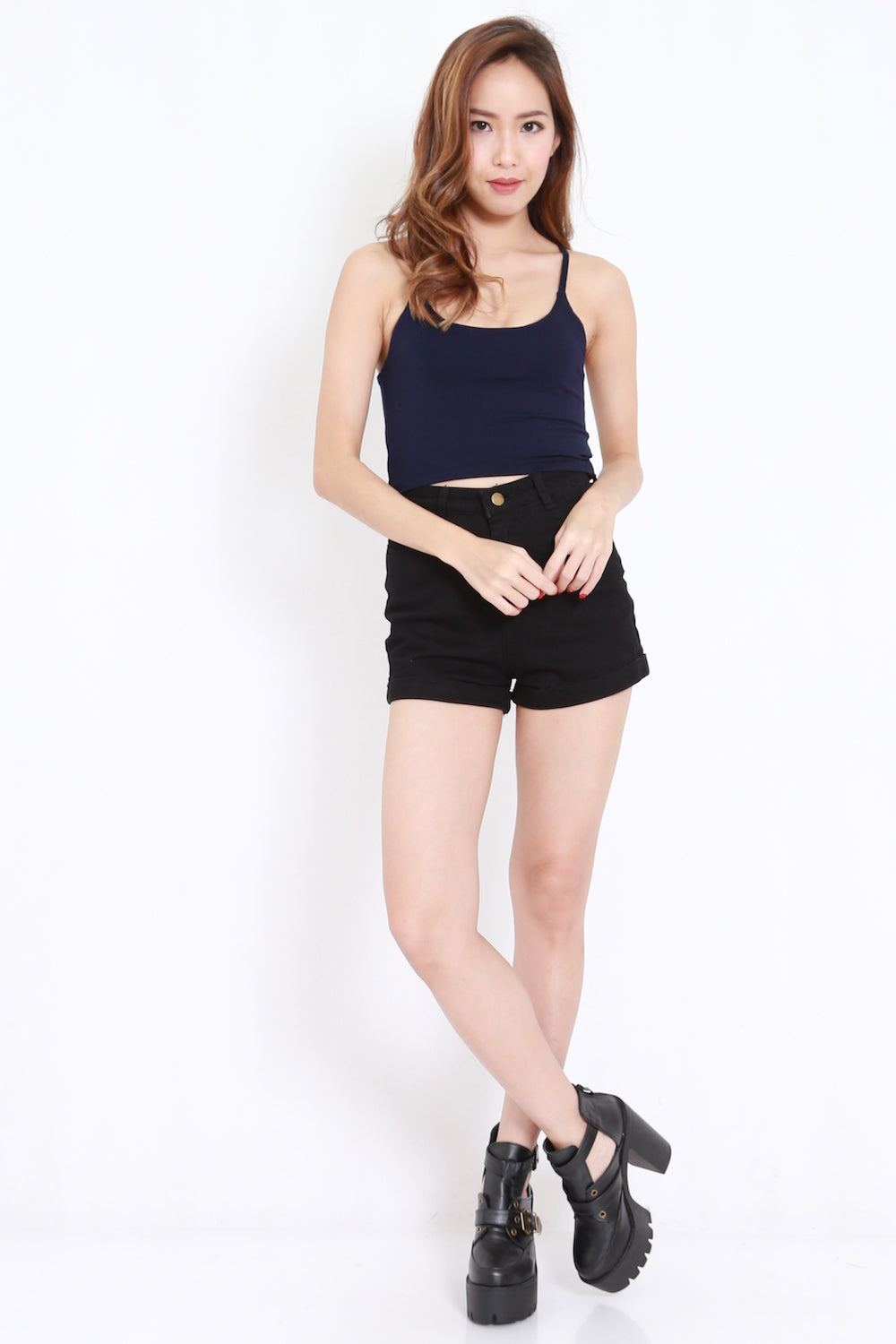 Basic Crop Top (Navy)