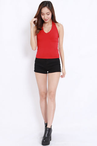 Basic Halter Top (Red)