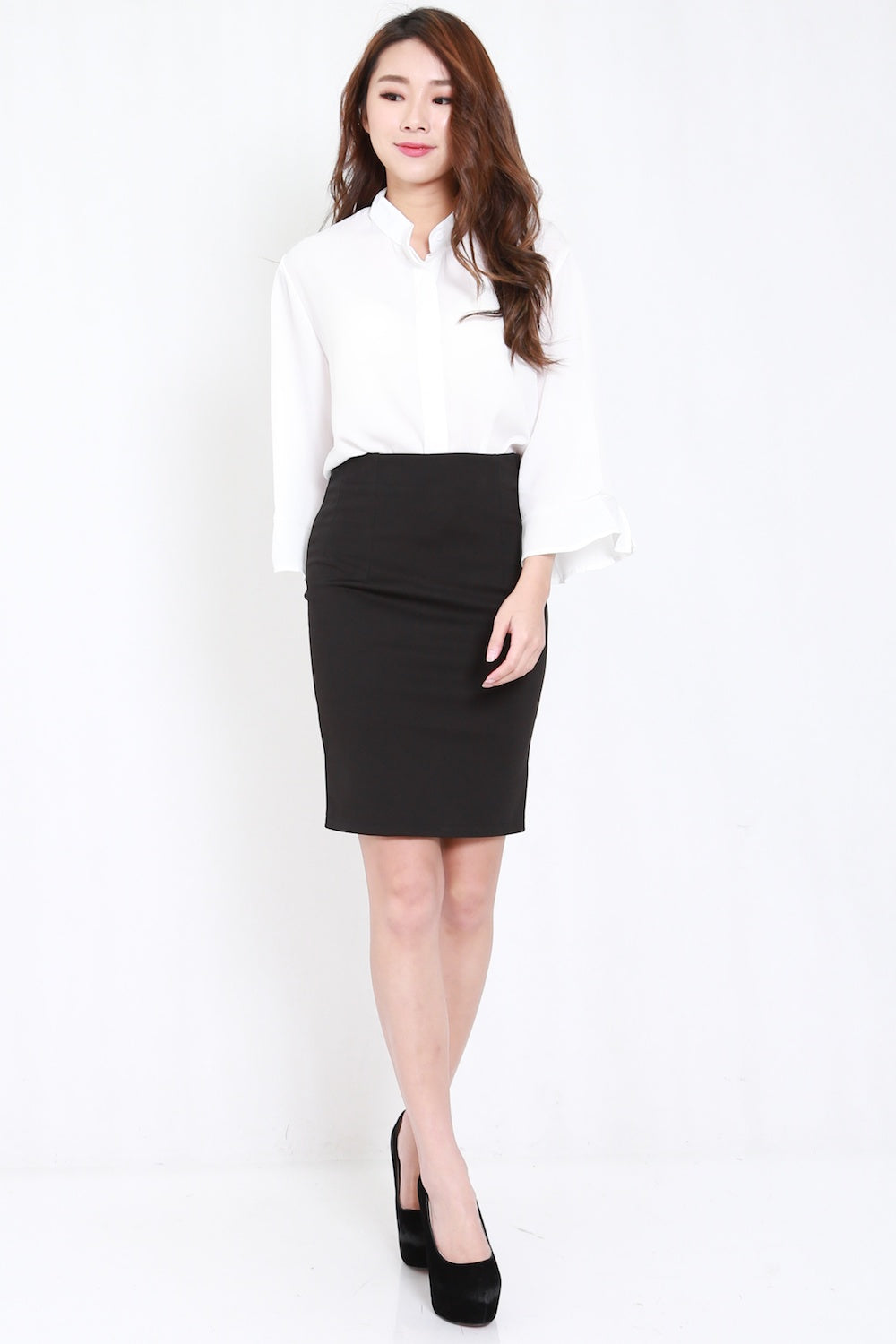 Basic Pencil Skirt (Black)