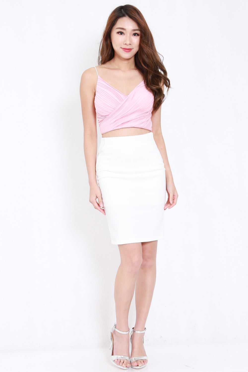 Basic Pencil Skirt (White)