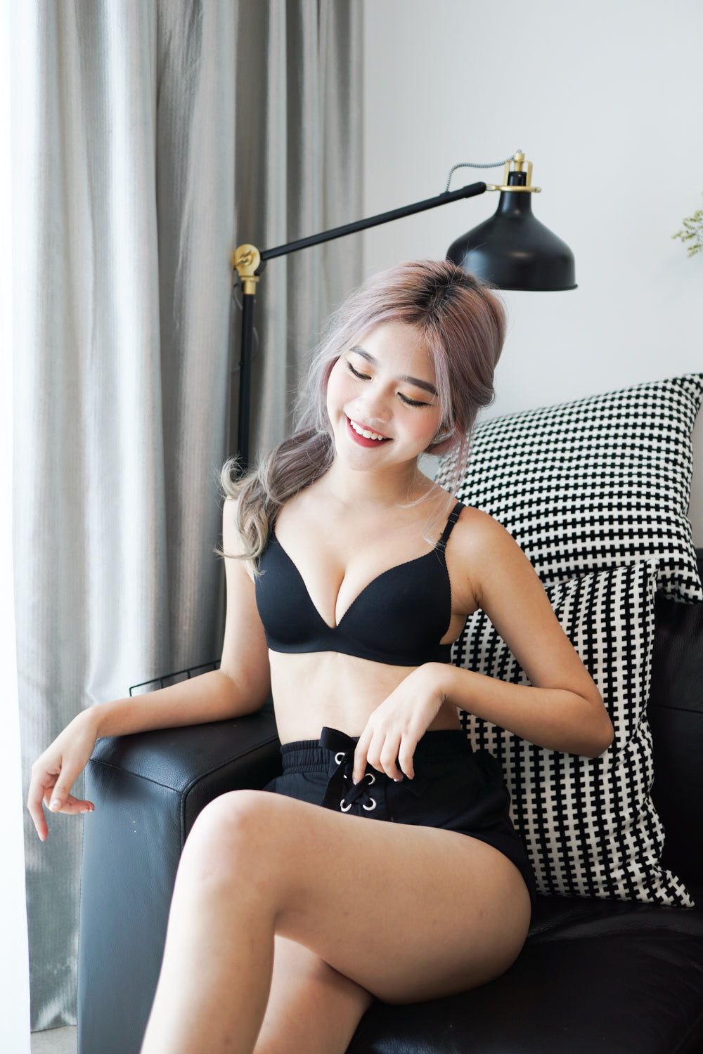 Basic Push Up Bra (Black)