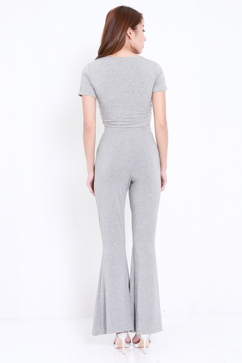 Bell Flare Pants (Light Grey)