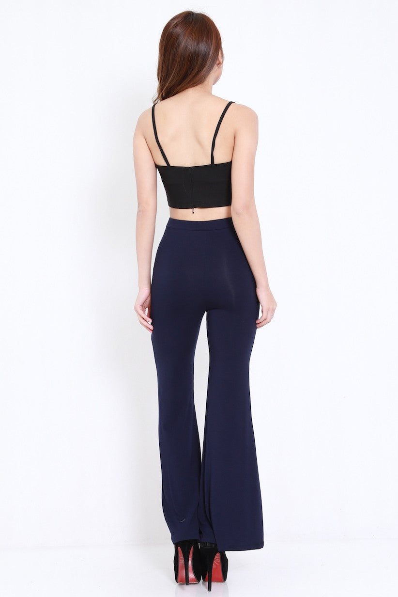 Bell Flare Pants (Navy)
