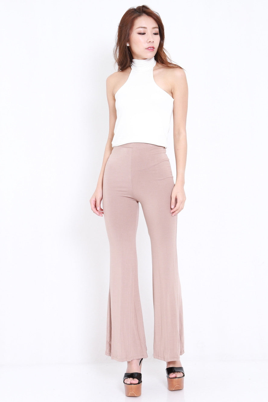 Bell Flare Pants (Taupe)