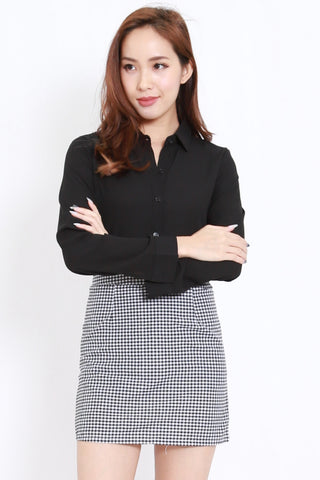 Button Casual Shirt (Black)