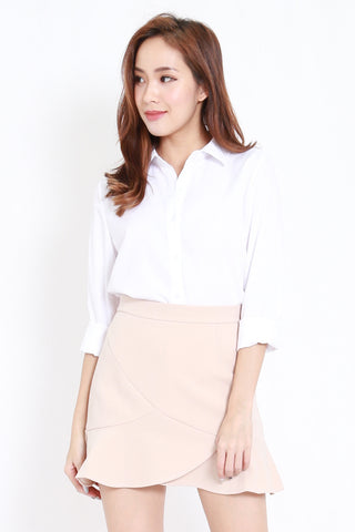 Button Casual Shirt (White)