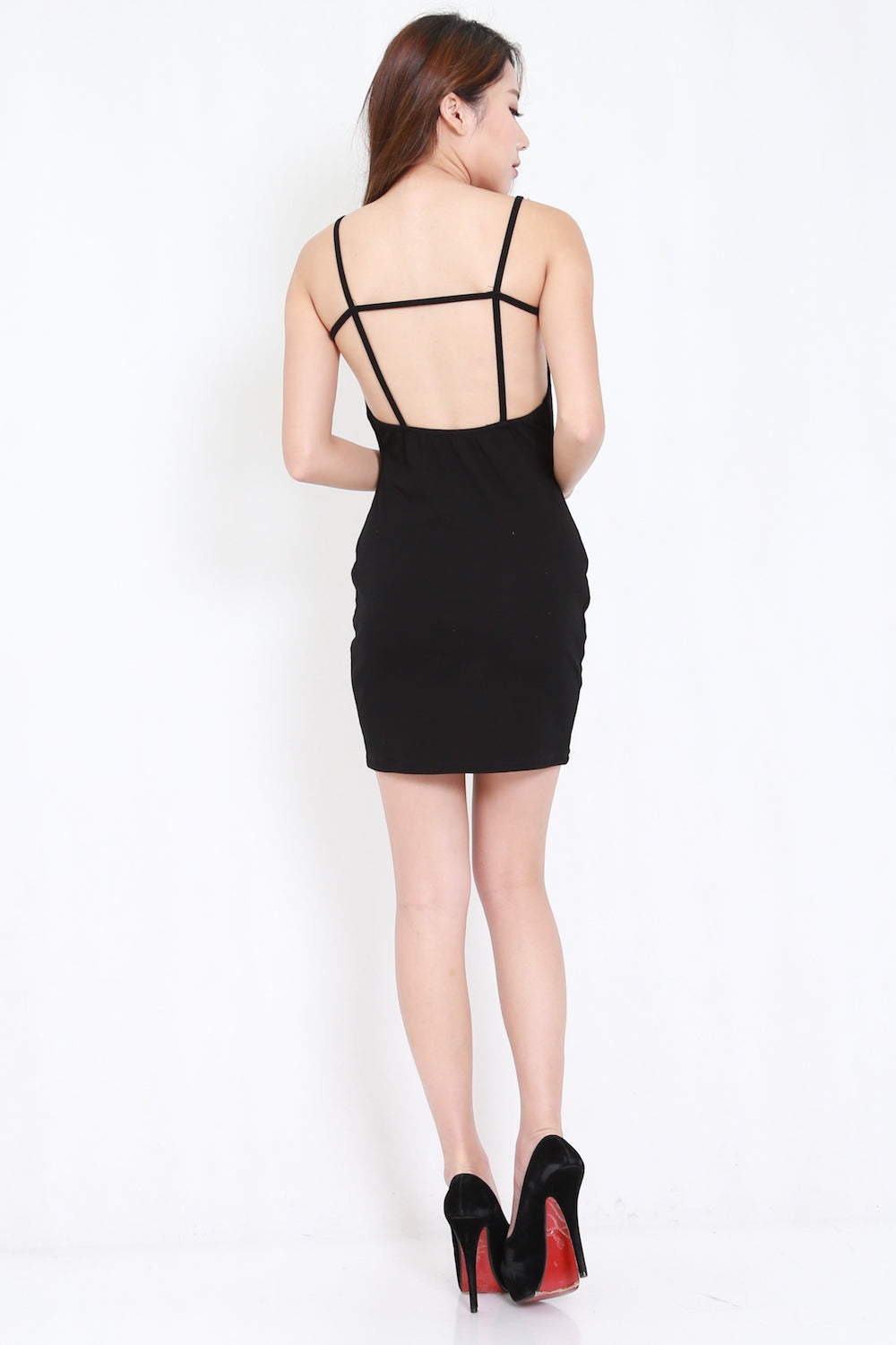 Cage Back V Bandage Dress