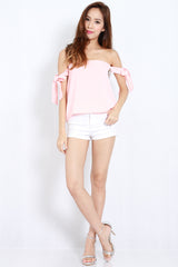 Candice Ribbon Top (Pink) -  - 3