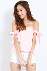 Candice Ribbon Top (Pink) -  - 1