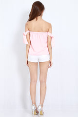 Candice Ribbon Top (Pink) -  - 6