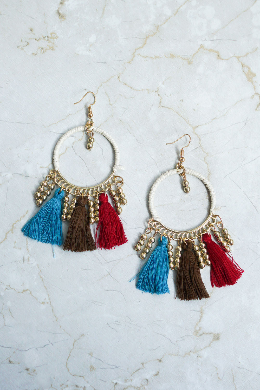 Carrie Boho Tassel Earring (Colour)