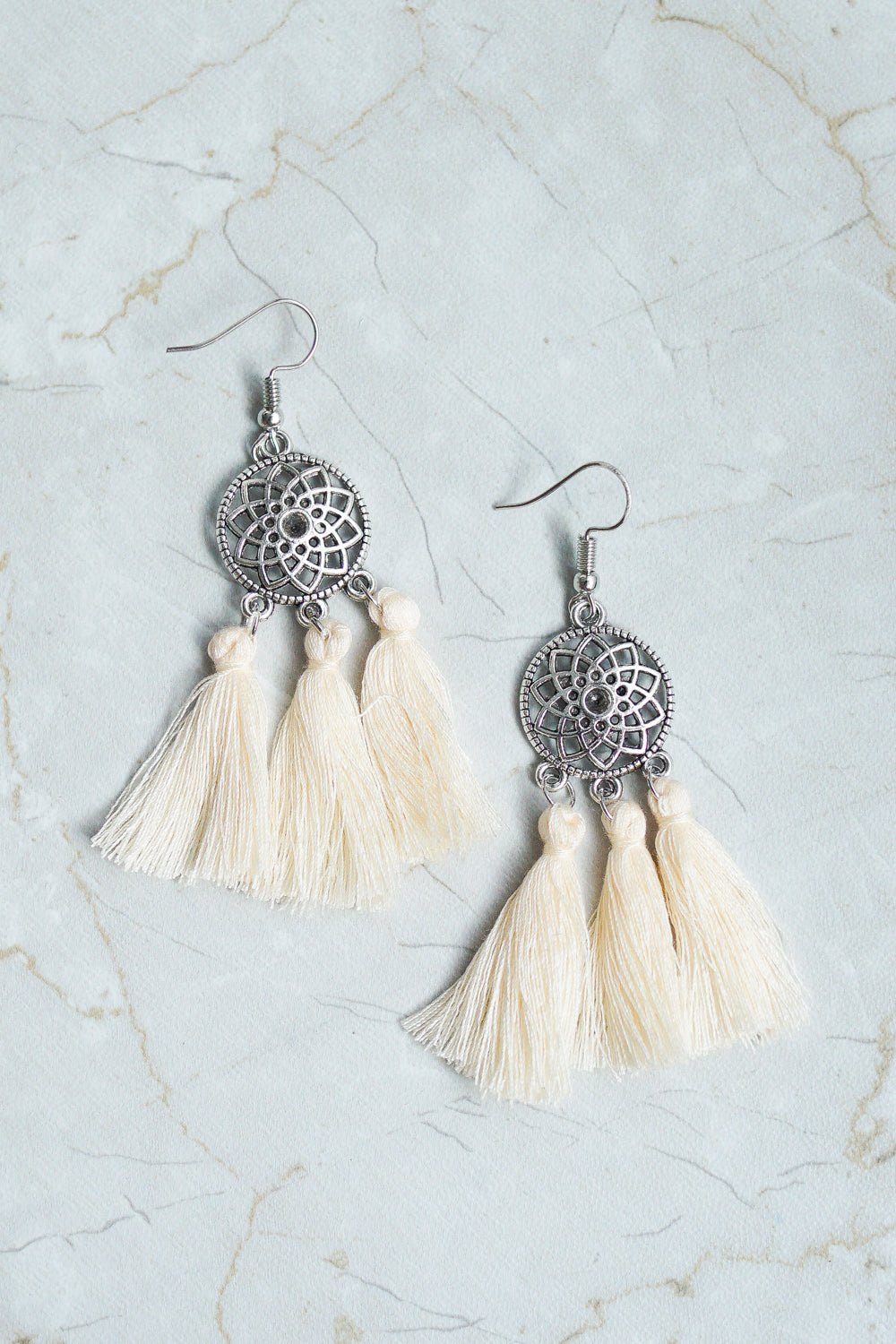 Cassidy Dream Catcher Earring (White)