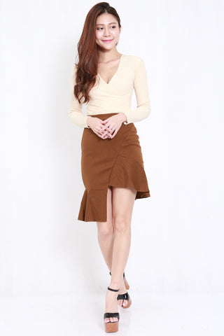 Cassie Mermaid 2pcs Set (Camel)