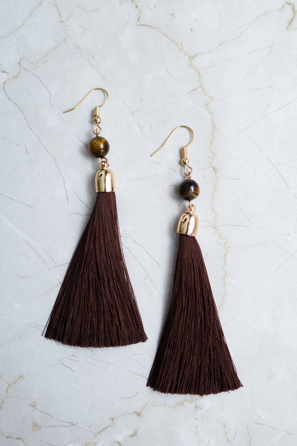 Charlotte Tassel Earring (Brown)