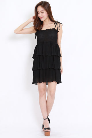 Chiffon Layer Dress (Black)