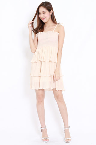 Chiffon Layer Dress (Cream)