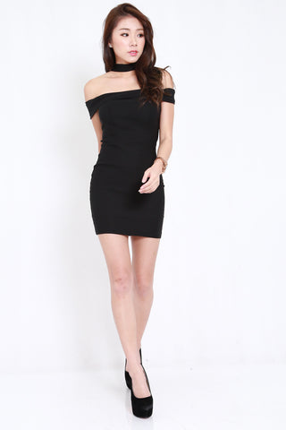 Choker Offsie Dress (Black)