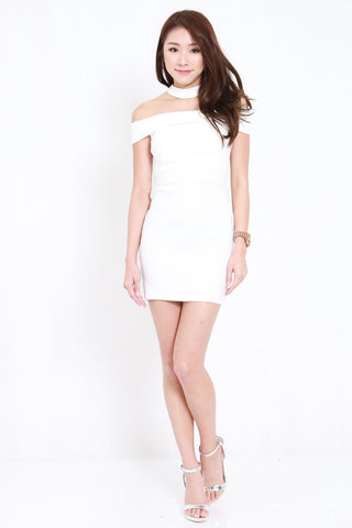 Choker Offsie Dress (White)