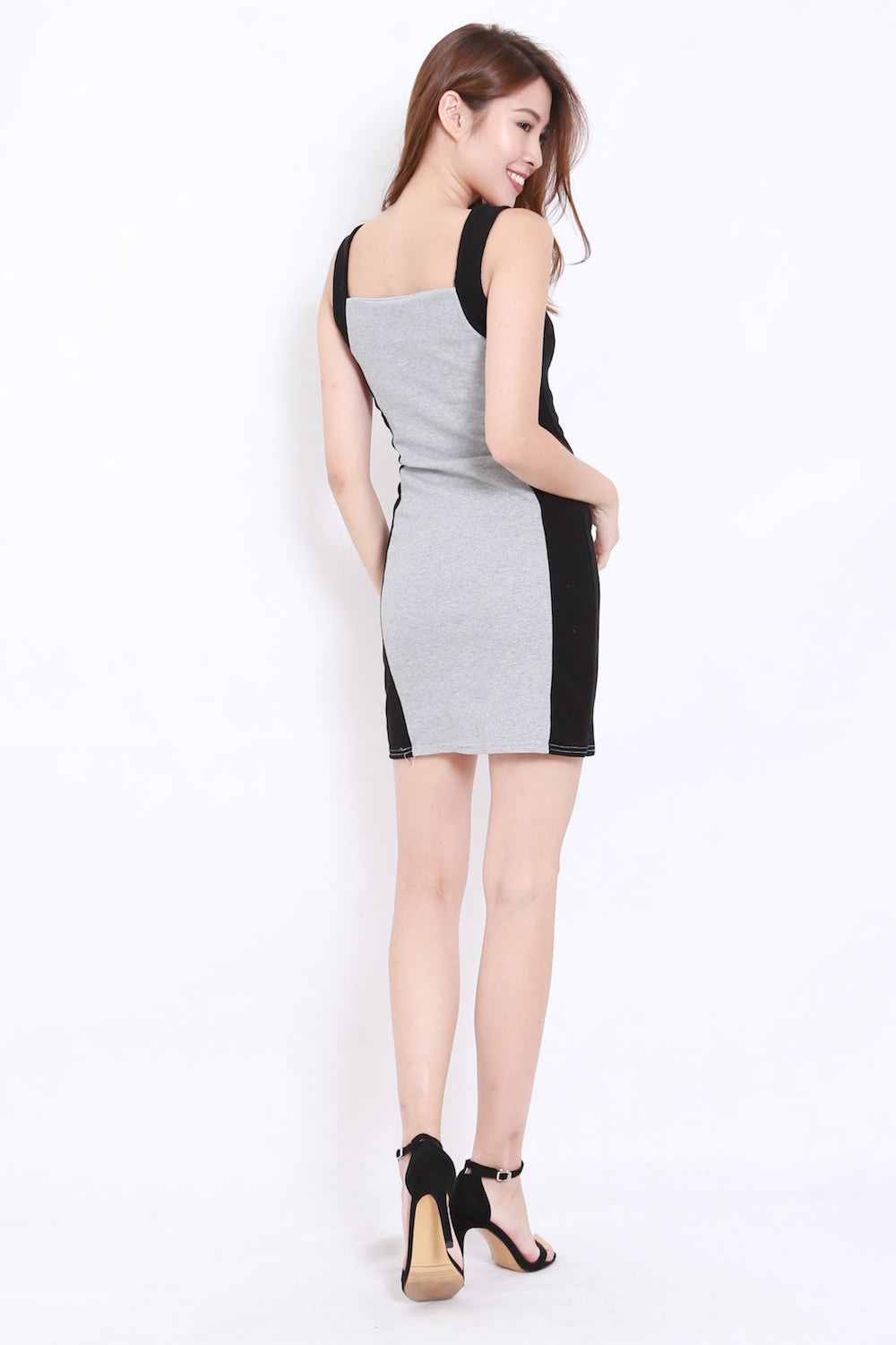 335fed22 Colour Block Ribbed Dress (Grey) – Carrislabelle