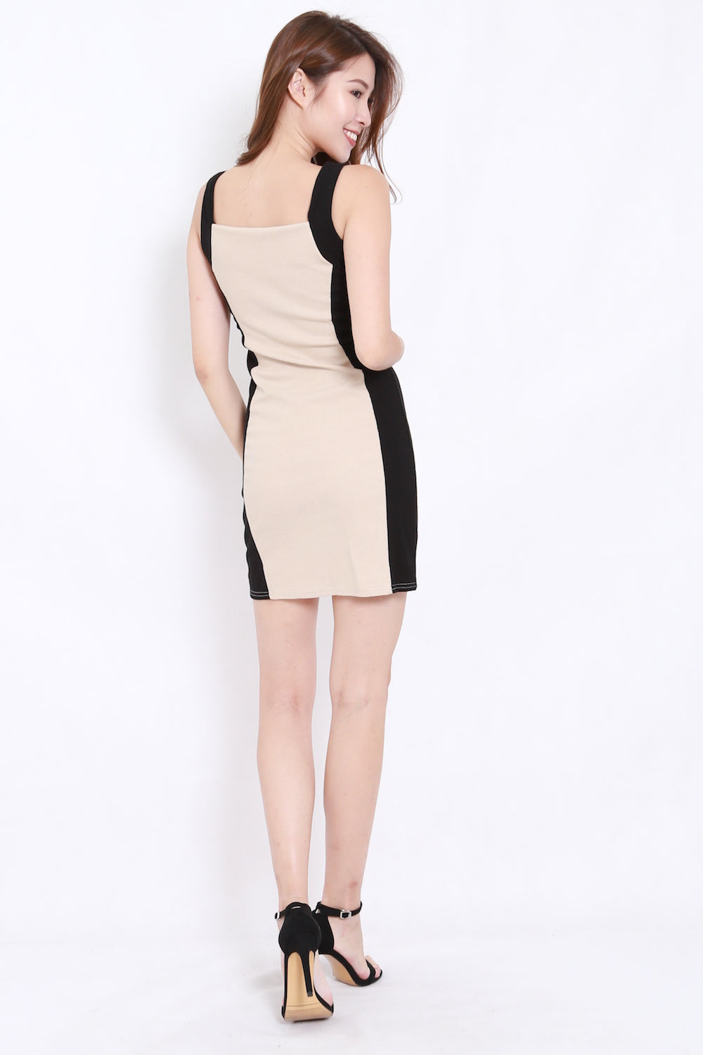 350bf1a5 Colour Block Ribbed Dress (Nude) – Carrislabelle