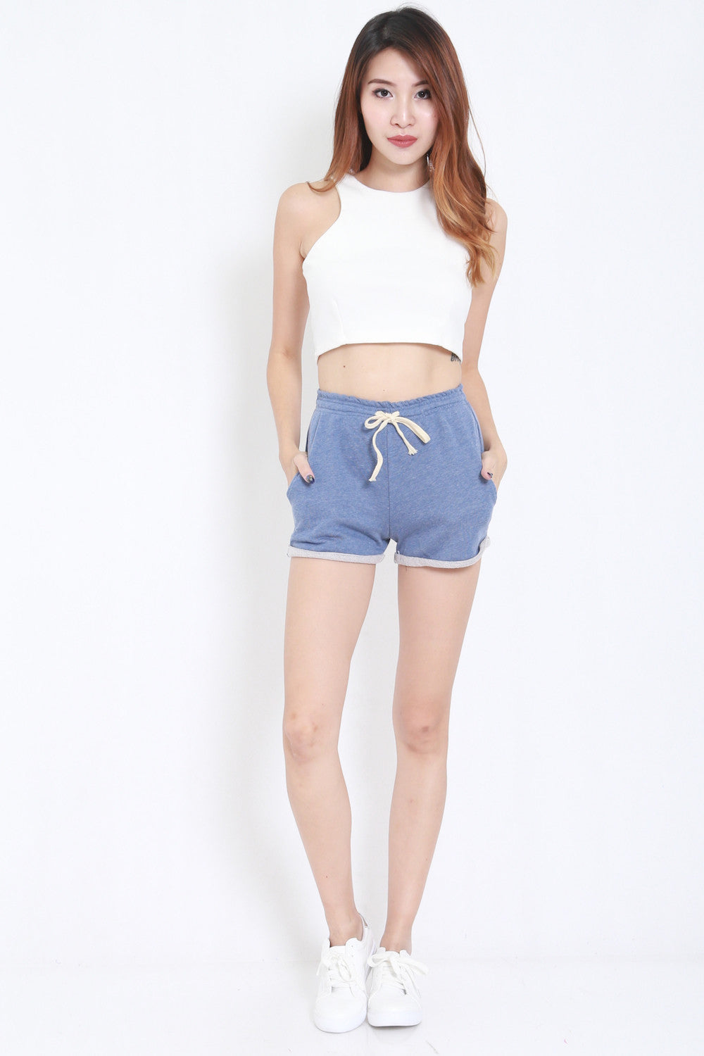 Comfy Pocket Shorts (Blue) -  - 1