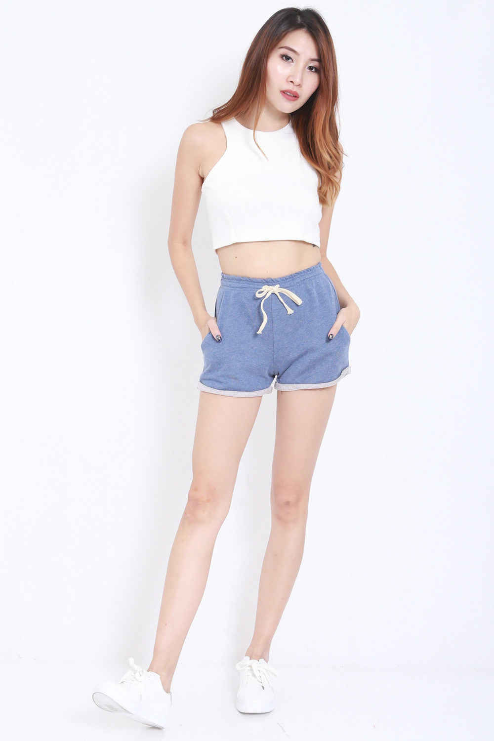 Comfy Pocket Shorts (Blue) -  - 2
