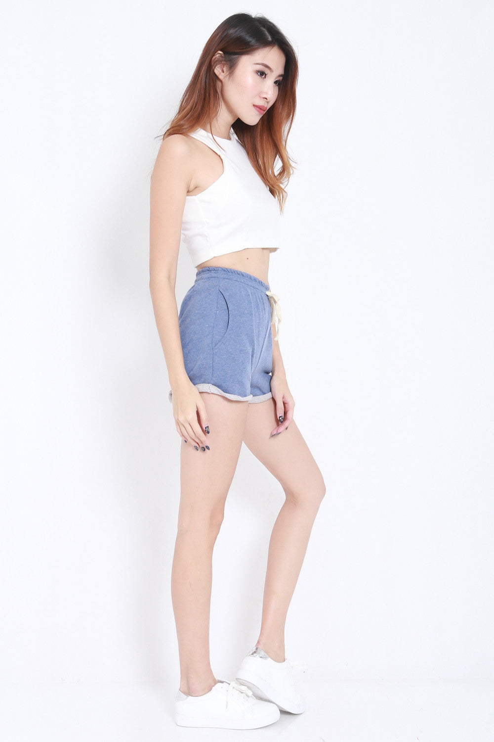 Comfy Pocket Shorts (Blue) -  - 4