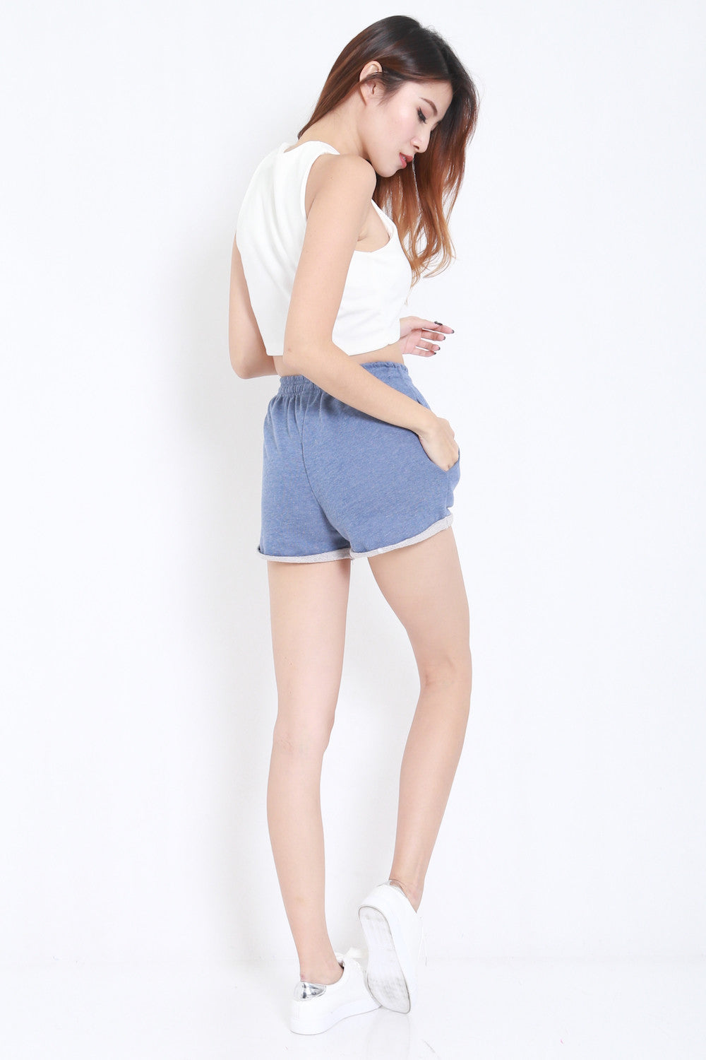 Comfy Pocket Shorts (Blue) -  - 5