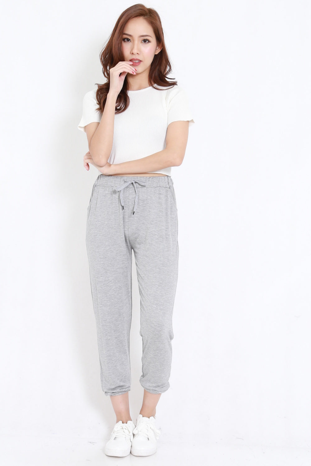 Comfy Slack Pants (Light Grey)