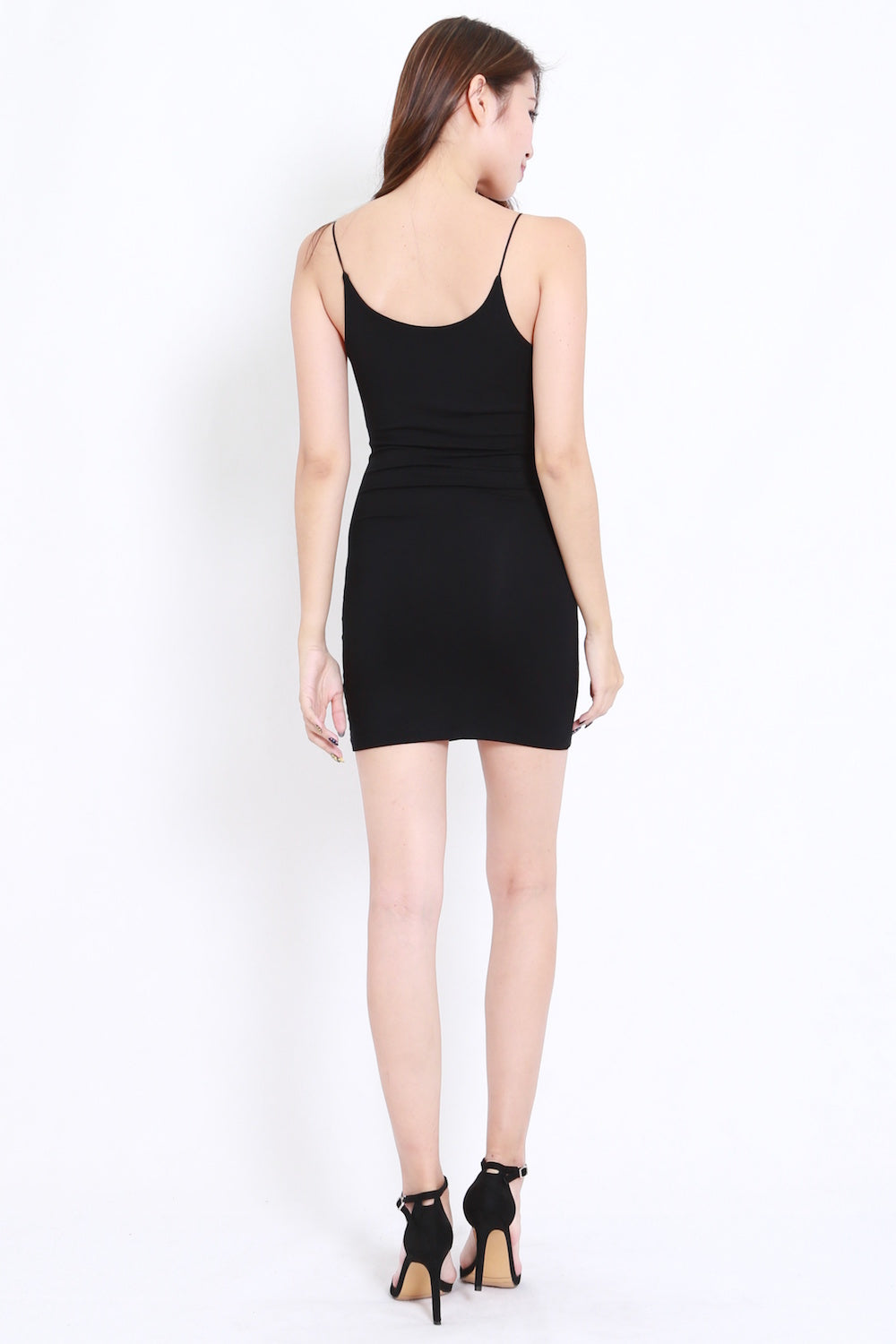 Cotton Basic Spag Dress (Black)