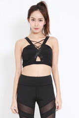 Criss Cross Cutout Sports Bra