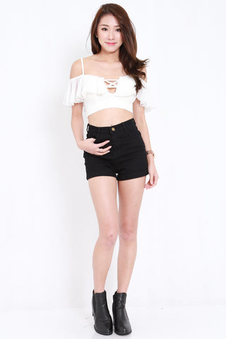 Criss Cross Flutter Offsie (White)