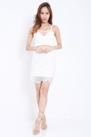 Crochet Mesh 2pcs Set (White) -  - 1