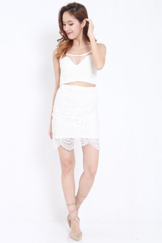 Crochet Mesh 2pcs Set (White) -  - 2