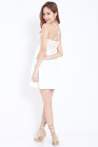 Crochet White Skater Dress -  - 2