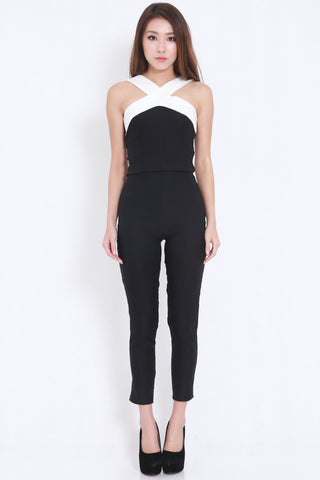 Cross Front Jumpsuit -  - 1