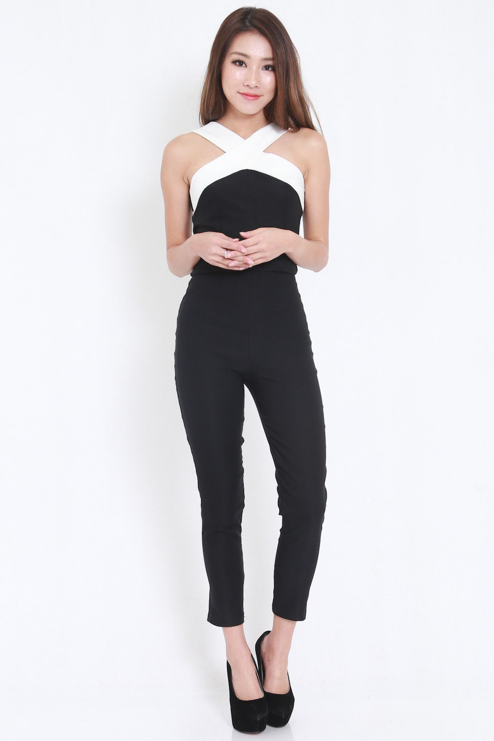 Cross Front Jumpsuit -  - 3