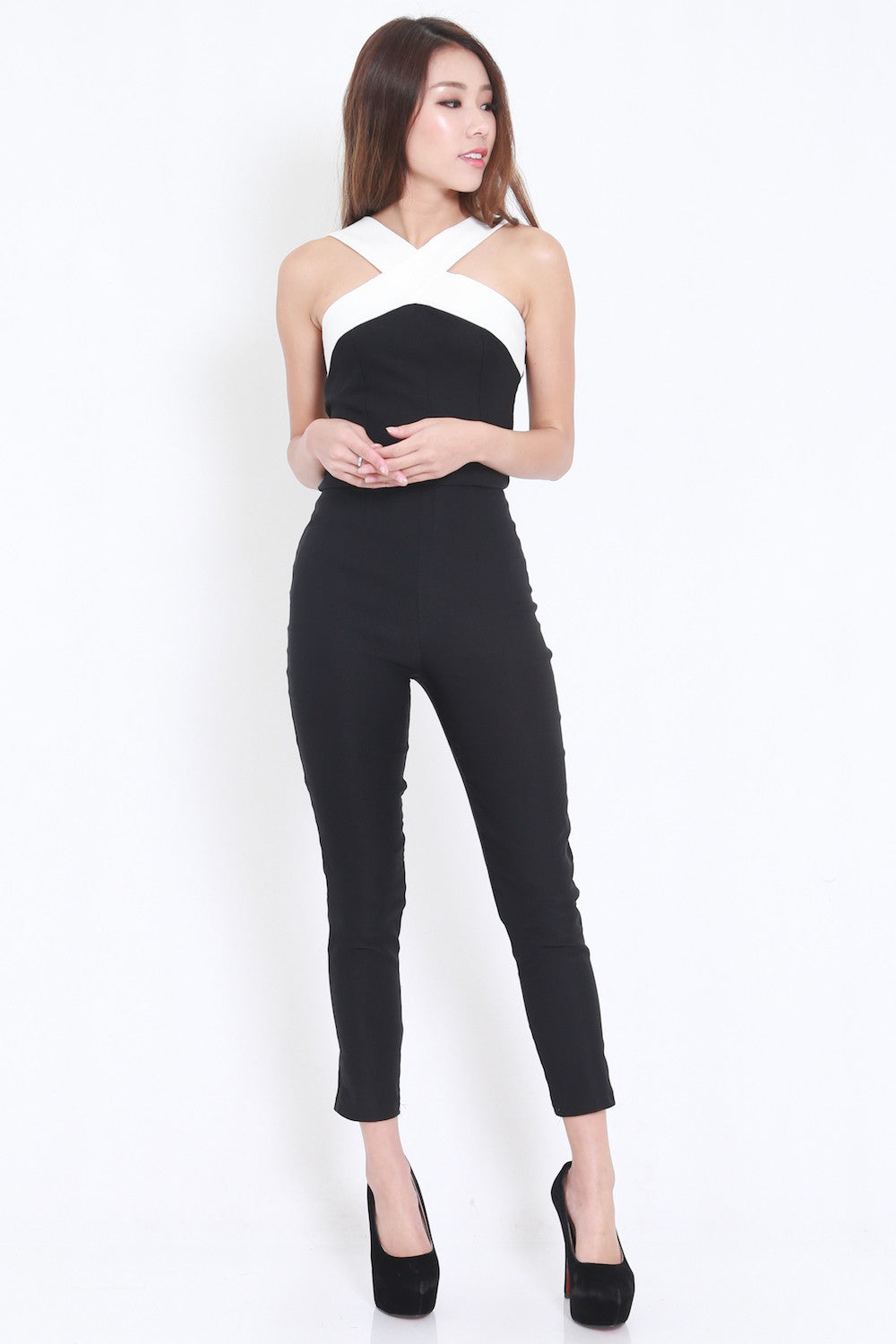 Cross Front Jumpsuit -  - 4