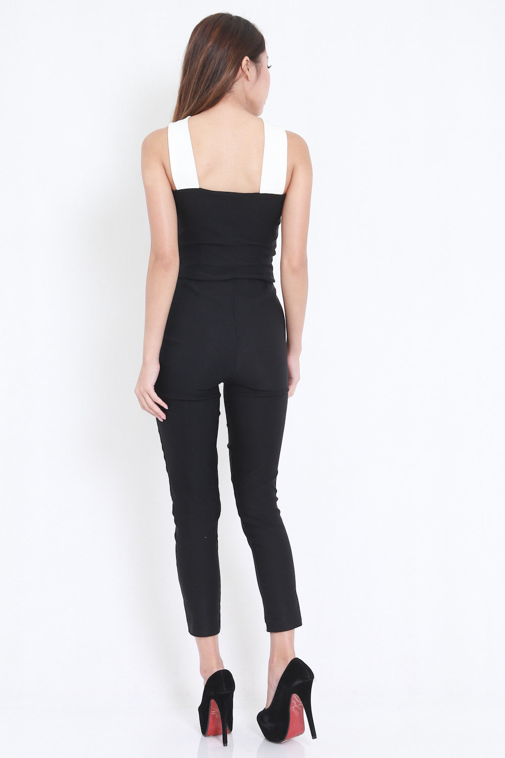 Cross Front Jumpsuit -  - 5