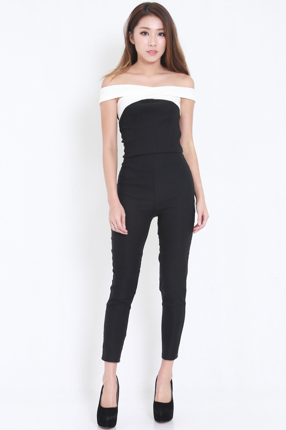 Cross Front Jumpsuit -  - 2