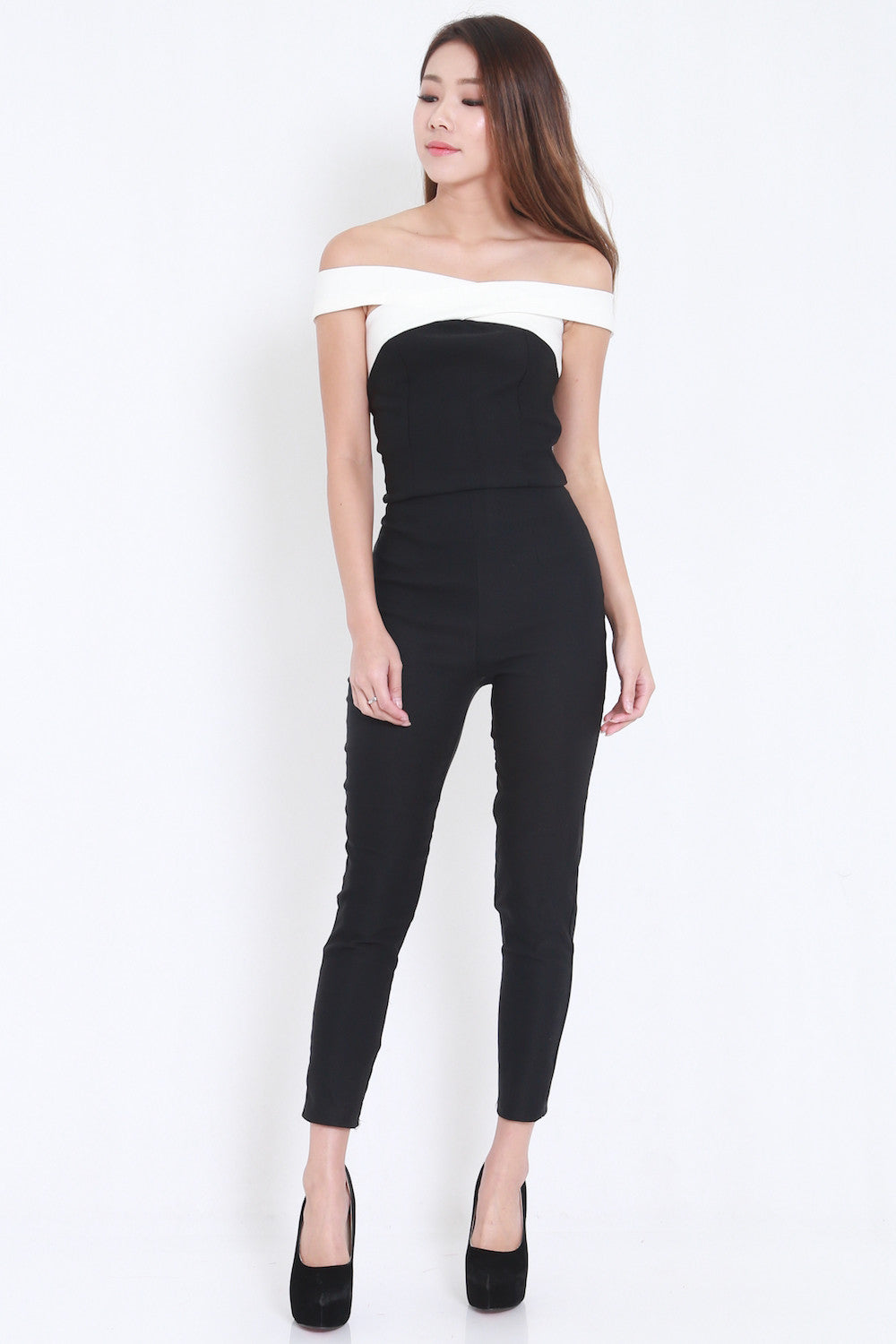Cross Front Jumpsuit -  - 6