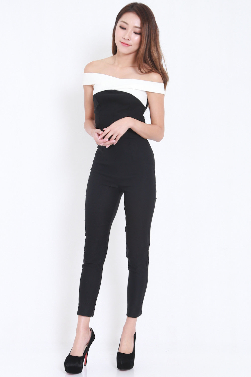 Cross Front Jumpsuit (Black)