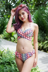 Cross Wrap Bikini (Colour Abstract)