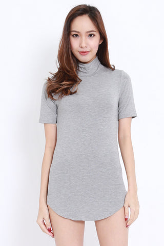Curve Hem Tee Dress (Grey)