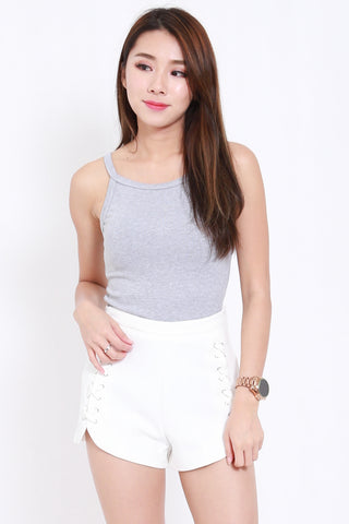 Curve Lace Shorts (White)