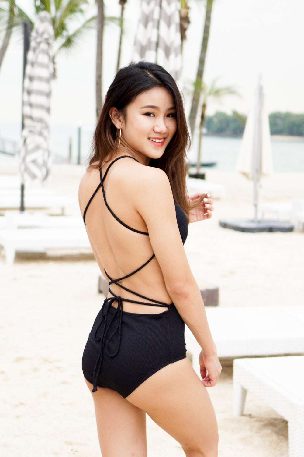 Cutout Lace Back Monokini