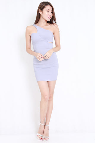 aea4b90e01 Cutout Toga Bandage Dress (Light Grey)