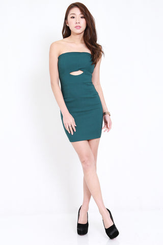 Cutout Tube Dress (Forest)