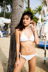 Vina Crochet Triangle Bikini (White)