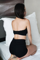 Soft Cotton Tube Bra (Black)